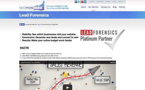 Screenshot of Trial Page needmoreclicks.com - Lead Forensics FREE Trial - Get Leads from your website | needmoreclicks - captured Nov. 3, 2014