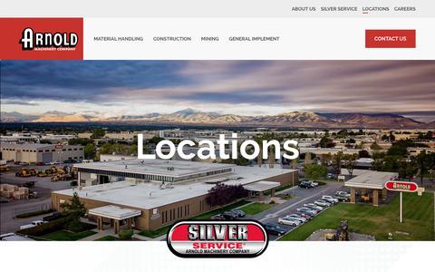 Screenshot of Locations Page arnoldmachinery.com - Locations – Arnold Machinery Company - captured Oct. 4, 2018