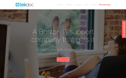 IT support Boston - managed IT services Boston | TekDoc