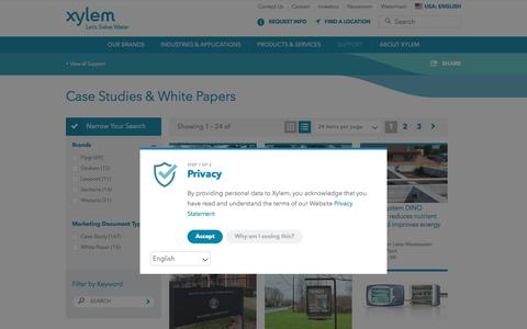 Screenshot of Case Studies Page xylem.com - Case Studies for Water and Wastewater Solutions - Xylem Inc. | Xylem US - captured May 31, 2018