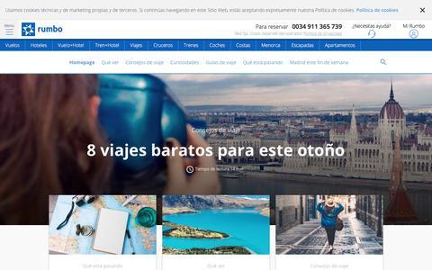 Screenshot of Blog rumbo.es - Blog Oficial de Rumbo.es - captured Sept. 21, 2018