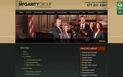 Screenshot of Site Map Page themcgaritygroup.com - Sitemap - captured Sept. 30, 2014