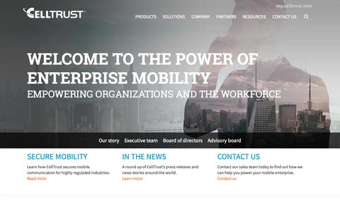 Screenshot of About Page celltrust.com - CellTrust | About Us | Company - captured Nov. 19, 2018