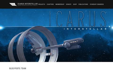 Screenshot of Team Page icarusinterstellar.org - Icarus Interstellar - captured Sept. 11, 2018