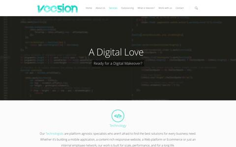 Screenshot of Services Page veesion.co.uk - Services |  VEESION London Creative Digital Agency - captured Oct. 6, 2014