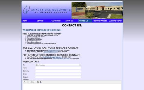 Screenshot of Contact Page Maps & Directions Page asinm.com - Analytical Solutions, LLC - captured Oct. 23, 2014