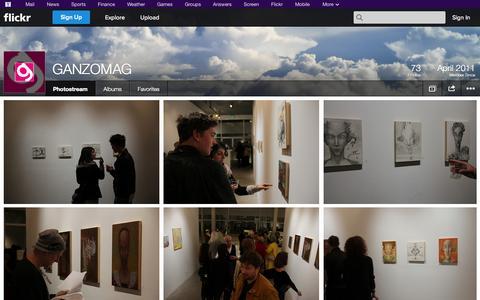 Screenshot of Flickr Page flickr.com - Flickr: GANZOMAG's Photostream - captured Oct. 30, 2014