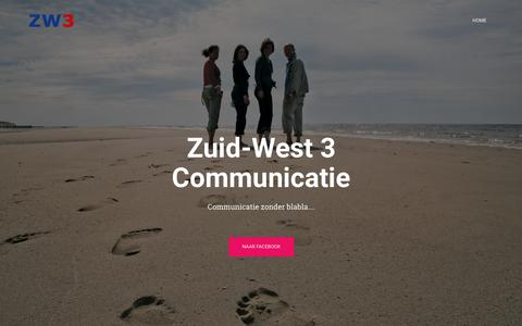 Screenshot of Home Page zw3.nl - ZW3 – Strategische, praktische communicatie - captured Nov. 15, 2018