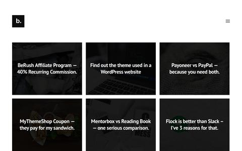 Screenshot of Home Page blogbeatz.com - blogbeatz. – simply for bloggers. - captured Sept. 22, 2018