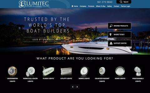 Screenshot of Home Page lumiteclighting.com - Lumitec Lighting  Home - Lumitec Lighting - captured Nov. 18, 2015