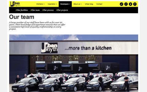 Screenshot of Team Page urbanmyth.net - Urban Myth : More than a kitchen | Our team - captured Dec. 7, 2016