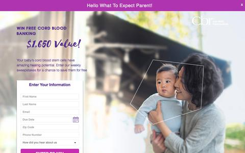 Screenshot of Landing Page cordblood.com - Cordblood - captured July 27, 2017