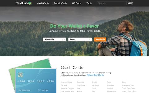 Screenshot of Home Page cardhub.com - Card Hub®: The Web's Best Credit Card & Gift Card Marketplace - captured July 18, 2015