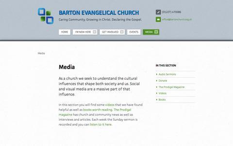 Screenshot of Press Page bartonchurch.org.uk - Media   Barton Evangelical Church - captured April 4, 2016