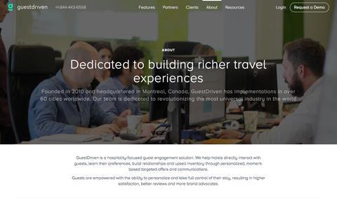 Screenshot of About Page guestdriven.com - About - GuestDriven - captured Dec. 4, 2015