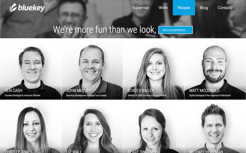 Screenshot of Team Page bluekeyinc.com - People | Meet the full-service team at BlueKey - BlueKey - captured July 17, 2018