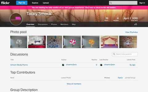 Screenshot of Flickr Page flickr.com - Flickr: The Tacky Smack Pool - captured Oct. 26, 2014