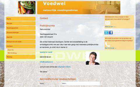 Screenshot of Contact Page voedwel.nl - Contact | Voedwel - Utrecht - captured Feb. 23, 2016