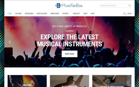 Screenshot of Home Page musicfanbox.com - MusicFanBox | Get a wide range of Musical Instruments - captured Nov. 12, 2017