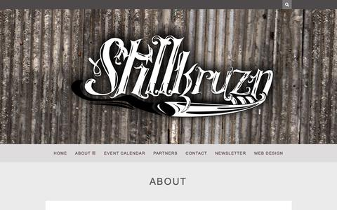Screenshot of About Page stillkruzn.com - About – - captured Aug. 14, 2015