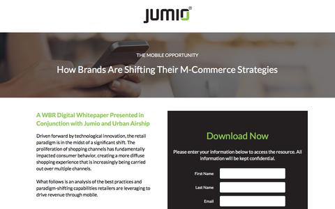 Screenshot of Landing Page jumio.com - Whitepaper: The Mobile Opportunity for M-Commerce - captured April 1, 2018