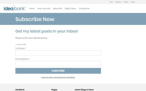 Screenshot of Signup Page ideabank.com.au - Subscribe Now - captured Dec. 17, 2018