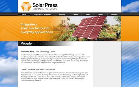 Screenshot of Team Page solar-press.com - People | Solar Press - captured Oct. 26, 2014