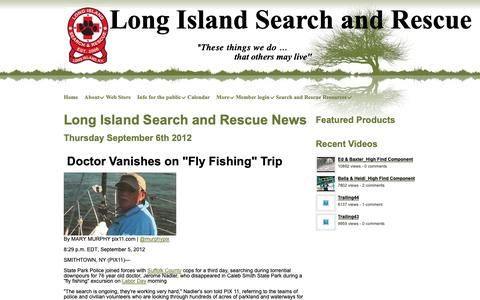 Screenshot of Press Page longislandsearchandrescue.org - Long Island Search and Rescue - News - captured Nov. 29, 2018