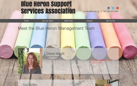 Screenshot of Team Page bhssa.ca - Blue Heron Support Services Association, Disability Supports Barrhead | Our Team - captured Nov. 22, 2016