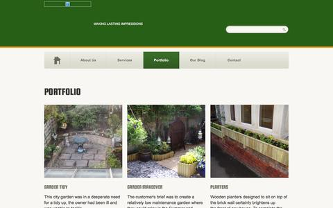 Screenshot of Products Page stevesgardenservices.biz - Portfolio - Some of our previous workSteve's Garden Services - captured Feb. 24, 2016