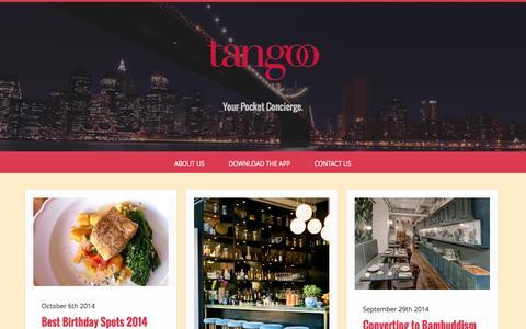 Screenshot of Blog tangoo.ca - Tangoo Blog - captured Oct. 9, 2014