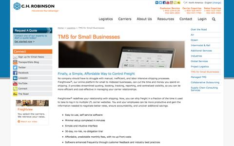 TMS for Small Businesses - C.H. Robinson