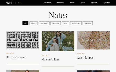 Screenshot of Press Page swedenunlimited.com - News - Fashion, Beauty and Luxury Lifestyle News | Sweden Unlimited - captured July 16, 2019