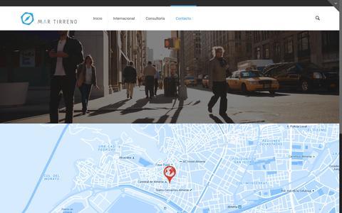 Screenshot of Contact Page mtcomin.com - Contacto | Mar Tirreno - captured Feb. 12, 2016