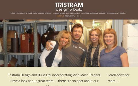 Screenshot of About Page tristramdesign.com - About Us — Tristram Design and Build - captured Dec. 17, 2016