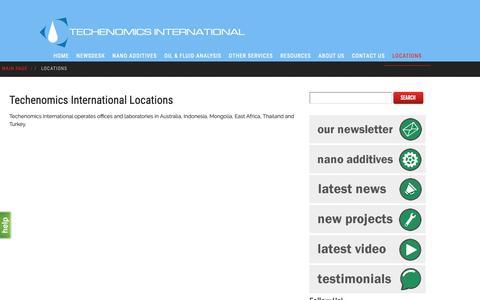 Screenshot of Locations Page techenomics.net - Locations - techenomics.net - captured Dec. 20, 2018