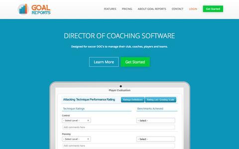 Directors of Coaching Software | Goal Reports