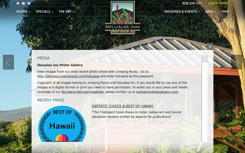 Screenshot of Press Page holualoainn.com - Holualoa Inn in the News :: Fodor's, Frommers & More - captured Oct. 5, 2017