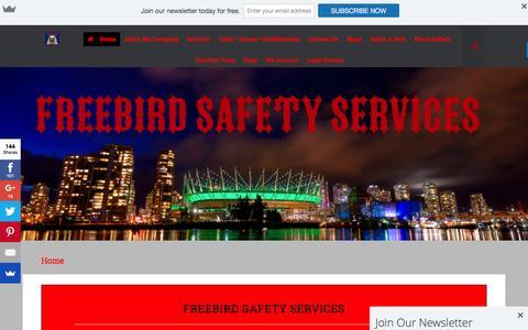 Screenshot of Home Page freebirdsafetyservices.ca - Home - captured Nov. 1, 2016