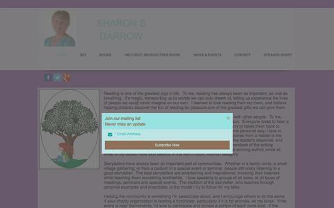 Screenshot of Home Page sharonsdarrow.com - Sharon S Darrow - captured Feb. 28, 2016