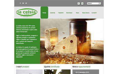 Screenshot of Home Page Privacy Page lacelsia.it - La Celsia, produzione di contatti elettrici a Ornavasso - captured Oct. 8, 2014
