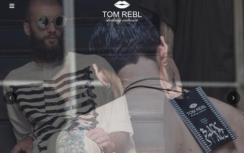 Screenshot of Press Page tomrebl.com - MEMBERS AREA - TOM REBL - captured Aug. 16, 2016