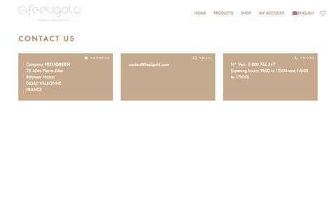 Screenshot of Contact Page feeligold.com - Contact | Feeligold - captured Aug. 5, 2016