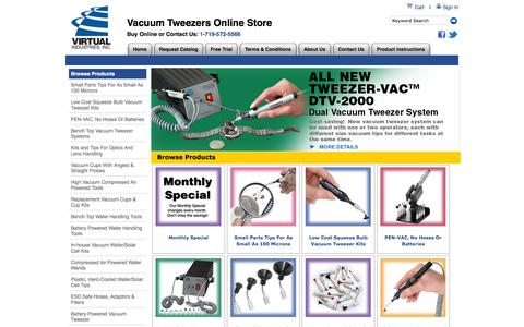 Screenshot of About Page Trial Page virtual-ii.com - Virtual Industries, Inc. - captured Oct. 26, 2014