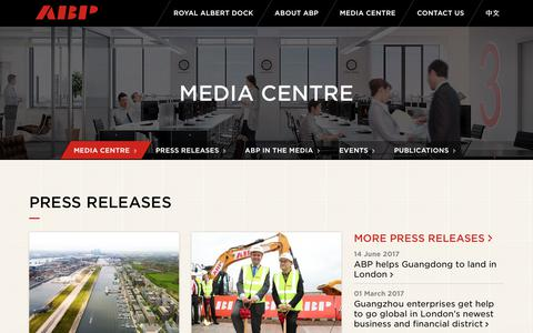 Screenshot of Press Page abp-london.co.uk - ABP | Media Centre - captured Oct. 6, 2017