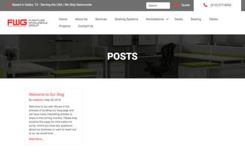 Screenshot of Blog furniturewholesalegroup.com - Blog - Furniture Wholesale Group - captured Sept. 1, 2019