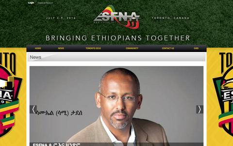 Screenshot of Press Page esfna.net - News - captured Jan. 30, 2016