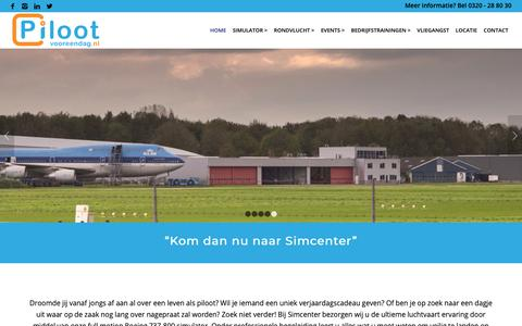 Screenshot of Home Page simcenter.nl - Simcenter, simulator, rondvluchten, trainingen en events - Simcenter.nl - captured Nov. 6, 2018