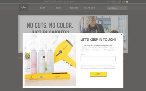 Screenshot of Services Page thedrybar.com - Blowout Services | Drybar - captured Sept. 19, 2019