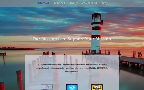 Screenshot of Home Page greysongroup.com - The Greyson Group - captured Oct. 6, 2014